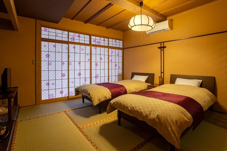 和風ツインベッドルーム